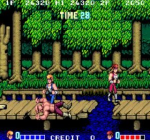 Double Dragon - Con un Bubba en el suelo